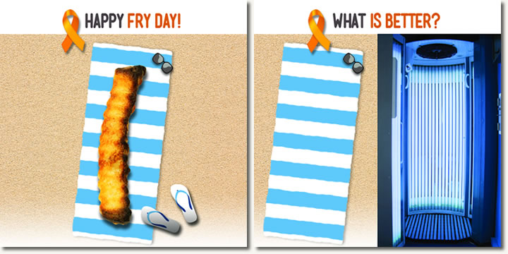 Fry Day, Tanning Bed Versus Outside